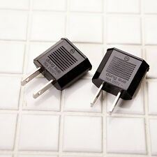 2pcs 110V-220V Power Plug Adapter EU Europe to US Canada Travel Adapter Flat Tip