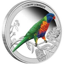 NEW Perth Mint Birds of Australia - Rainbow Lorikeet 2013 1/2oz Pure Silver Coin