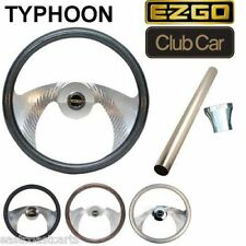 EZGO Golf Cart Typhoon Billet Steering Wheel Combo Set