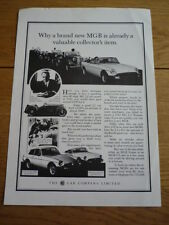 Mini MGB SALES POSTER - ORIGINAL SHOWROOM ITEM jm
