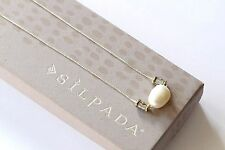 "Silpada NEW ""Simple Pearl"" Sterling Silver Brass Pendant Necklace N3399"