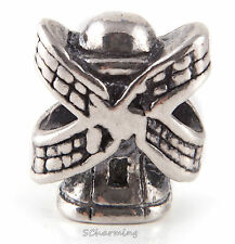 Authentic Trollbeads World Tour Silver Netherlands Windmill NL11403
