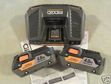 2 New Ridgid R840087 GEN5X Hyper Lith-ion Batteries & 1 R840095 18 Volt Charger
