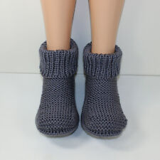 Stampato Maglieria instructions-fred's Boots Adulto Uomo Pantofole knitting pattern