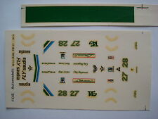 F1 DECAL 1/43 WILLIAMS FW-07 F1 1979 JONES-REGAZZONI