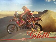 Unique rare Carte Postale Postcard CP KTM Gilett Rally Paris Dakar