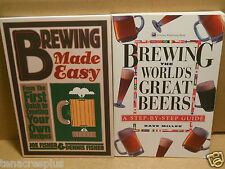 LOT Brewing The Worlds Great Beers AND Brewing Made Easy Step by Step How To