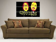 """CROOKERS MOSAIC TILE 36"""" BY 32"""" INCH WALL POSTER BIG ROOM HOUSE ELECTRO EDM DJ"""