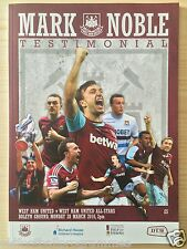 WEST HAM UNITED v ALL STARS LEGENDS (MARK NOBLE TESTIMONIAL)  (28th March 2016)