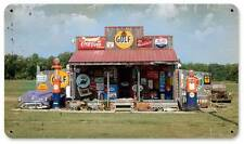 Gas Station Country Living Vintage Distressed Metal Sign Home Wall Decor AIF005