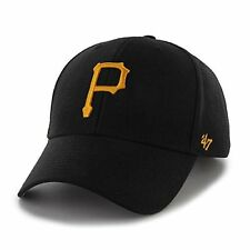 Pittsburgh Pirates 47 Brand MVP Strap Adjustable On Field Black Hat Cap MLB