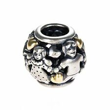 AUTHENTIC PANDORA #791040 FAMILY FOREVER STERLING CHARM BRAND NEW 2 TONE SAVE