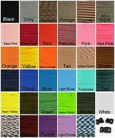 550 Paracord Mil Spec Type III 7 strand parachute cord 20 50 or 100 ft nylon