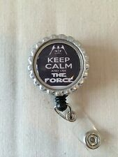 Keep Calm And Use The Force Retractable Reel ID Badge Holder Lanyard Star Wars