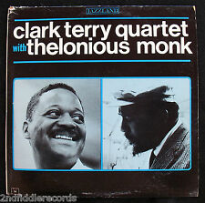 CLARK TERRY QUARTET with THELONIOUS MONK-Rare Jazz Album-JAZZLAND #JLP 96-MONO