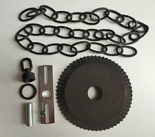 Ceiling Plate Canopy Kit w/ 3' of Chain in Kettle Black for Hanging Chandelier