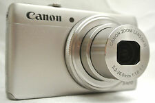 Canon Powershot S120 12.1MP Point & Shoot camera *silver *warranty *tested