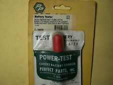 BATTERY TESTERS - 4 COLOR CODED BALLS IN ACID RESISTANT TUBE w/INDICATOR CHART.