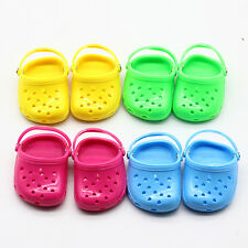 1Pair Cute Colorful Jelly Strap Sandals Shoes For 18 inch Girl Doll Clothes