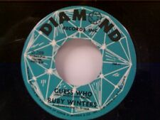 """RUBY WINTERS """"GUESS WHO / SWEETHEART THINGS"""" 45 MINT"""