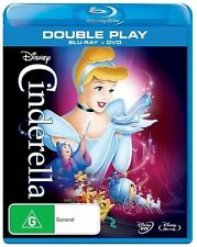 DISNEY'S ORIGINAL CINDERELLA= BLU-RAY and DVD=2 DISCS=BRAND NEW AND SEALED
