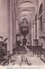 TOURNUS intérieur de l'abbaye grande nef coll schenck photo combier