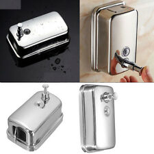 500Ml Soap Shampoo Bathroom Shower Chrome Dispenser Pump Push Action Wall Mount