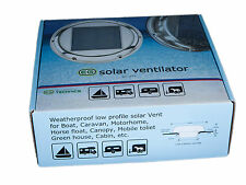day/night Solar POWERED w/1 battery Attic roof Exhaust Fan Vent Boat,Caravan