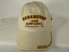 Men's Beige Paramount Apparel 2012 USA Made Hat Cap Adjustable Cool Graphics
