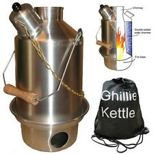 GHILLIE KETTLE OUTDOOR CAMPING 1L EXPLORER - SILVER