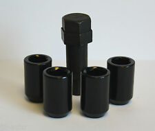 M12 X 1.5  BLACK TUNER SLIMLINE LOCKING WHEEL NUTS FIT FORD FOCUS ST ALL MODELS