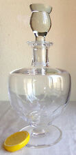 "Lalique Crystal Decanter, Clos Vougeot, Footed, Paris France, Signed 11.5"" Tall"