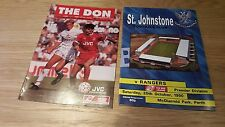 2 Rangers away programmes from 1988 & 1990 vs. Aberdeen and St Johnstone