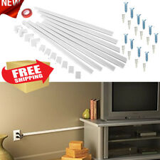 Cable Cord Cover Concealer Kit Wire Management Wall Organizer Raceway Hide White