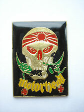 VINTAGE MOTORHEAD LEMMY EDDIE SKULL HEAVY METAL ROCK MUSIC PIN BADGE FREE POST