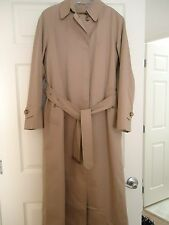 Burberry London Womens Long Trench Coat Size 4 R