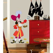 New CAPTAIN HOOK WALL DECALS Jake and the Neverland Pirates Stickers Room Decor