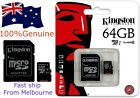 SD MicroSD Card 64gb Kingston Class10 For Samsung Phone Camera Memory Card SLR