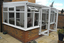 Conservatory - Made To Measure 2.4m x 2.25m Lean-to  White upvc **WINTER SALE**