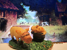 "TRAIN GARDEN HOUSE VILLAGE ANIMAL "" BARN YARD PIGS BUCKET  "" +DEPT 56/LEMAX info"