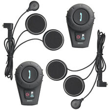 2 x Motorcycle helmet bluetooth headset intercom 500m Radio Communication System