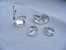 """Swarovski   Butterfly   With   Swan    Logo    Height    1.1/4""""   Inches"""