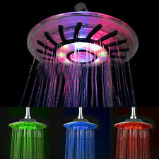 "8"" inch Colorful Color RGB LED Light Rain Top Round Shower Head for Bathroom"