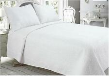 3PCS KING BEDSPREAD SET PILLOW SHAMS QUILTED BEDSPREAD SET COLOUR WHITE