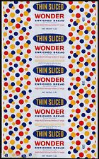 Vintage bread wrapper WONDER THIN SLICED dated 1960 Continental Baking Rye NY