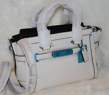 COACH 37908 Swagger 27 Satchel Carabiner Soft Leather Carryall Bag Purse $495