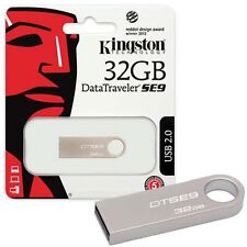 Kingston 32gb Data Traveler Metal Slim Se9 Usb Pen Memoria Flashdrive Dtse9h/32gb