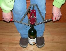 WINE BOTTLE CORKER HEAVY DUTY ALL METAL DOUBLE LEVER for HOME WINE MAKING CORKS