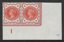 ½d Vermillion control I imperf pair MOUNTED MINT to top 2 stamps