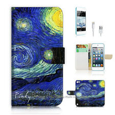 iPod Touch iTouch 5 Print Flip Wallet Case Cover! Van Gogh Starry Night P0066